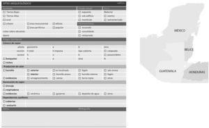 Ficha elaborada para sistematizar la documentación. Diseñada por la autora.