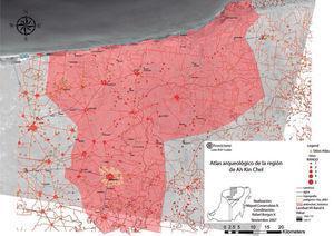 Mapa de ubicación de probables rutas de comunicación entre la costa norte y el interior. Archivo: Proyecto Arqueológico Dzilam González, Yucatán.