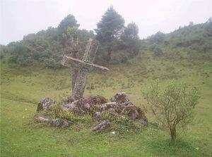 Altar in the mountains south of San Mateo Ixtatán