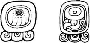 Glifos para el día Imix en el periodo Clásico Tomado de Calvin (2004: 8)