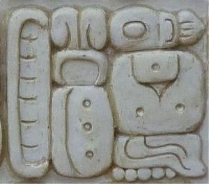 """Ka-si-ti-la-ni kastilan (""""castellano"""") en el bloque glífico C8 en la estela de Iximche'"""