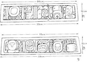 Glyphs on the Guaquitepec monuments (courtesy Karl H. Mayer).