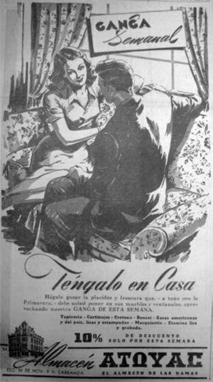 """""""Téngalo en casa"""", El Universal, 16 de abril de 1945, p. 16"""