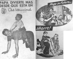 """Detalle anuncios """"Papá divierte más"""", El Universal, 4 de junio de 1958, p. 16; """"Sorteo El Universal"""", El Universal, 19 de julio de 1960, p. 3; """"Haga su futuro"""", El Universal, 7 de septiembre de 1950, p. 15; """"Trenes Lionel"""", Novedades, 5 de diciembre 1965"""