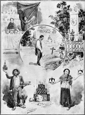 Costumbres del día de muertos (Yzaguirre, L., en El Mundo, noviembre de 1895).