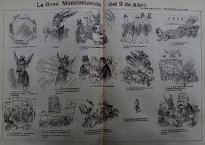 La Gran Manifestación, El Hijo del Ahuizote, 12-04-1903.
