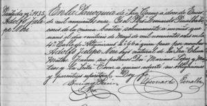 Partida de bautismo de Adolfo López Mateos.