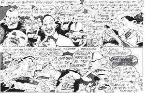 """fragmento de la historieta """"El Conejo Fumetti"""" de Fontanarrosa"""