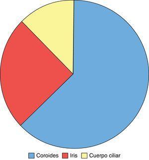 Porcentaje tumoral según localización.