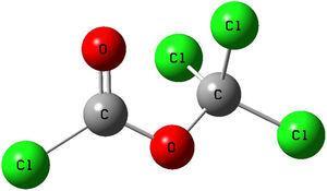 Representation of diphosgene.
