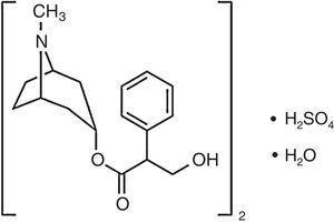 Estructura molecular del sulfato de atropina.