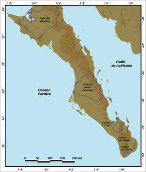 Cuencas y valles de Baja California Sur vulnerables a la desertificación.