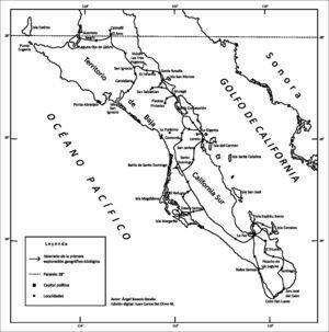Los itinerarios de Ángel Bassols Batalla y Gastón Guzmán Huerta en el territorio de Baja California, 1958.