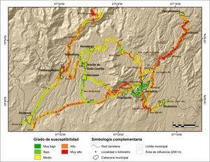 Susceptibilidad a PRM en la red carretera de la Sierra Nororiental de Puebla con base en analisis multicriterio.