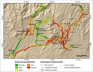 Susceptibilidad a PRM en la red carretera de la Sierra Nororiental de Puebla mediante la aplicacion de pesos de evidencia.