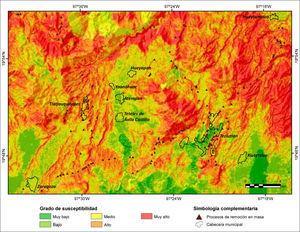 Analisis multicriterio de susceptibilidad a PRM en la Sierra Nororiental de Puebla.