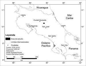 Localización del área de estudio en el contexto nacional.