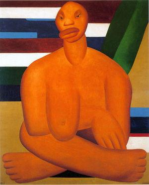 Tarsila do Amaral (1923) A negra.