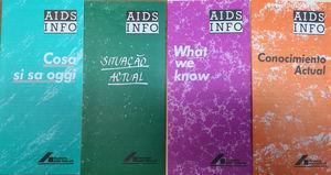 Folletos de Alemania (Deutsche AIDS-Hilfe e. V.) en diversos idiomas.