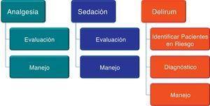 Dominios del «bundle» para el manejo de la analgesia, sedación y delirium.