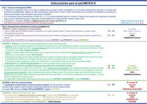 Instrucciones para la aplicación del psCAM-ICU-S.