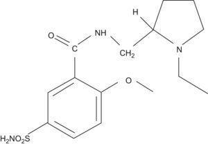 Estructura química de levosulpirida.