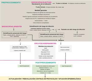 Diagrama de flujo para el reinicio de la actividad endoscópica.