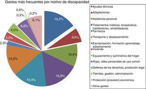Tipología de gastos por motivo de discapacidad en el último año.Fuente: EDAD (2008) y elaboración propia.