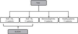 General flow chart of the included patients.