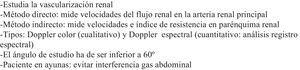 Ecografía renal Doppler: aspectos clave.