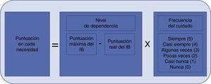 Procedimiento para el cálculo de las puntuaciones de cada necesidad de la escala DeCuida.