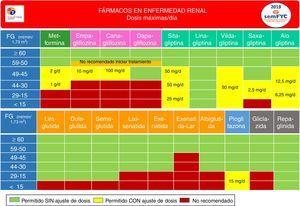 Función renal y uso de los fármacos no insulínicos.