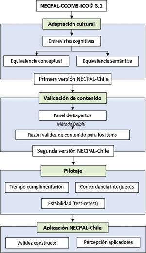Estudio prospectivo, longitudinal y analítico para validar en Chile el instrumento NECPAL.