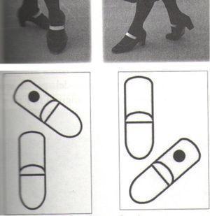 José Luis Navarro y Eulalia Pablo: signo de notación posición cruzada, golpe de punta.