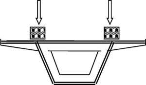 Ubicación de masas puntuales en los marcos de rigidización transversal.