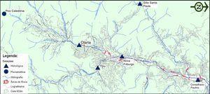 Estações telemétricas do Sistema de Alerta de Cheias localizadas na bacia do rio Bengalas [32].