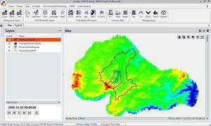 Interface MOHID Studio e os ambientes Map (sistemas de informações geográficas) e Explorer (ferramentas numéricas).