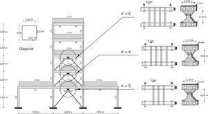 Reforzamiento de la estructura con disipadores de energía ADAS.