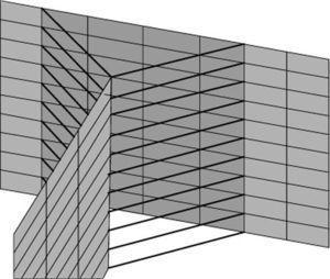 Detalhe de modelo ER1 sem intersecção entre as chapas.