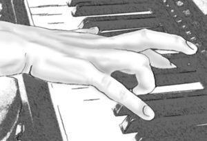 Distonía en mano derecha en pianista diestro, distonía primaria flexión del 4 y extensión compensatoria del medio.