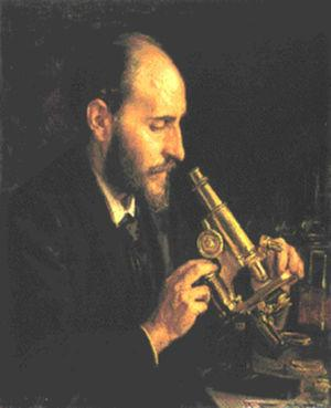 Santiago Ramón y Cajal (1852-1934), en un retrato de Ricardo Madrazo. Ateneo Científico, Artístico y Literario de Madrid.