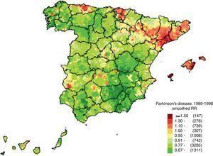 Mortalidad de la enfermedad de Parkinson. Fuente: De Pedro-Cuesta et al.66 (con permiso de los autores).