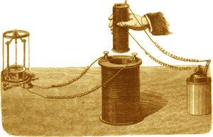El gran descubrimiento de Faraday se produjo cuando enrolló 2 solenoides de alambre de cobre alrededor de un armazón cilíndrico de hierro y encontró que cuando hacía pasar una corriente por un solenoide, otra corriente era temporalmente inducida en el otro solenoide. Este fenómeno se conoce como inducción mutua. El artilugio original de Faraday, aún se expone en el museo que lleva su nombre de la Royal Institution en Londres.