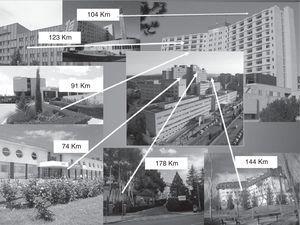 Distancia de los distintos hospitales a las 2 unidades de ictus (Hospital Universitario Miguel Servet y Hospital Clínico Universitario).