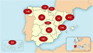 Total de casos por comunidades participantes.
