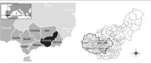 Mapa de situación de la zona de estudio.