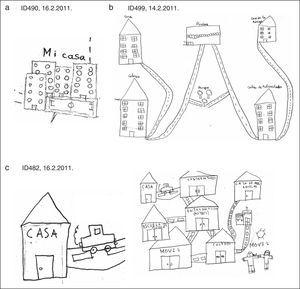 Dibujos de los escolares.