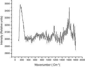 Raman spectrum of HEK 293T cells.