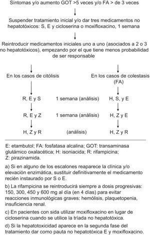 Algoritmo de manejo de la hepatotoxicidad.