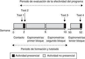Esquema del desarrollo del programa formativo y su evaluación.